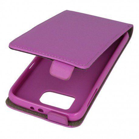 Etui z klapką do telefonu Samsung Galaxy S6 fioletowy