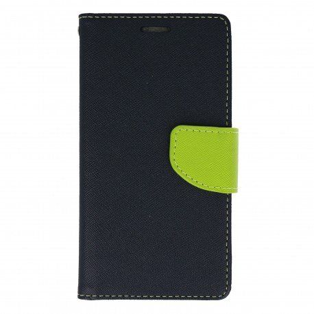 Etui portfelowe Fancy na telefon LG X Power K220 granatowy
