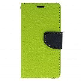 Etui portfelowe Fancy na telefon LG X Power K220 limonka