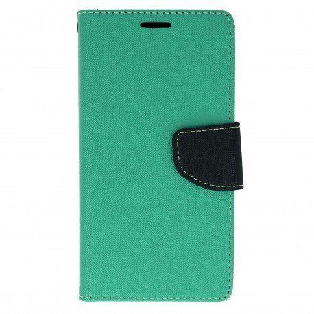 Etui portfelowe Fancy na telefon LG X Power K220 miętowy