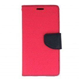 Etui portfelowe Fancy na telefon LG X Power K220 różowy