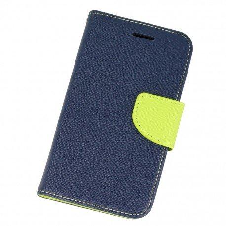 Etui portfelowe Fancy na telefon Samsung Galaxy Xcover G388F granatowy
