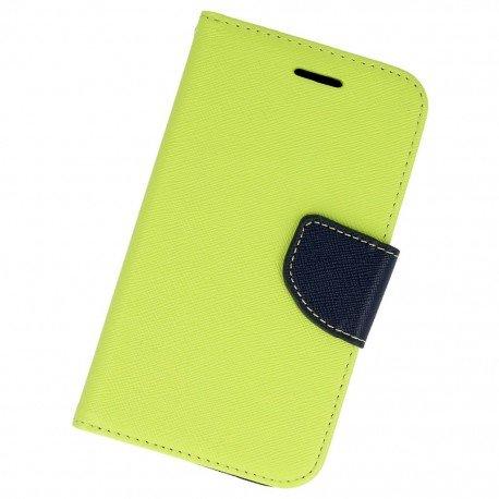 Etui portfelowe Fancy na telefon Samsung Galaxy Xcover G388F limonkowy