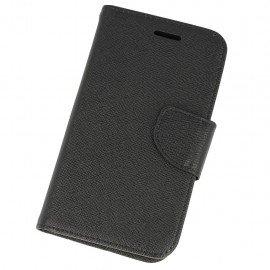 Etui portfelowe Fancy na telefon Samsung Galaxy Xcover G388F czarny
