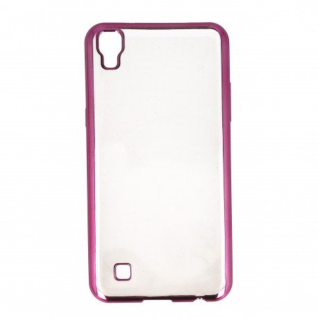 Etui na telefon Clear Case do LG X Power K220 różowy