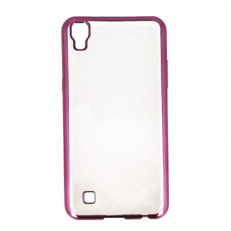 Etui na telefon Clear Case do LG X Power K220 różowy