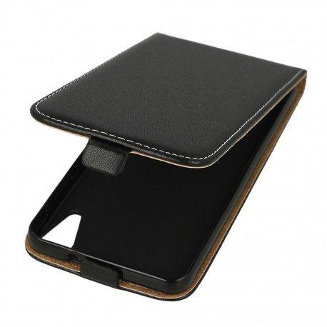 Etui z klapką Flexi do telefonu HTC Desire 10 Lifestyle czarny