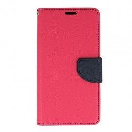 Etui portfelowe Fancy na telefon HTC Desire 10 Lifestyle różowy