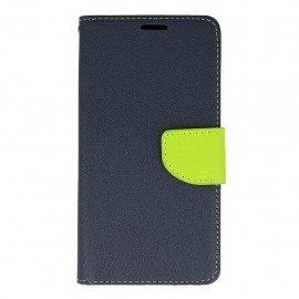 Etui portfelowe Fancy na telefon HTC Desire 10 Lifestyle granatowy