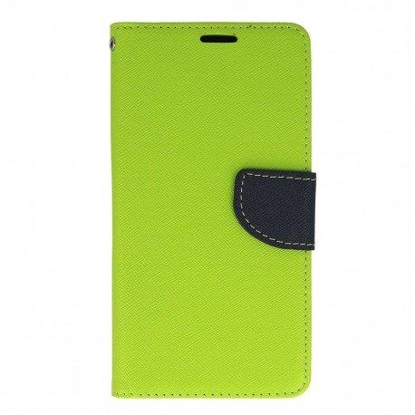 Etui portfelowe Fancy na telefon HTC Desire 10 Lifestyle zielony