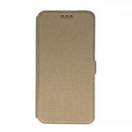 Etui na telefon Pocket Book na HTC Desire 10 Lifestyle złoty