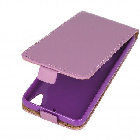 Etui z klapką Flexi do telefonu HTC Desire 626 fioletowy