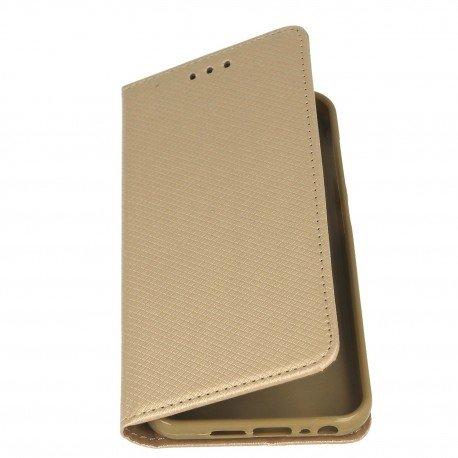 Etui boczne z klapką magnet book HTC One A9s złoty