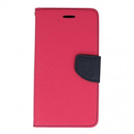 Etui portfelowe Fancy na telefon Huawei P9 Lite różowy