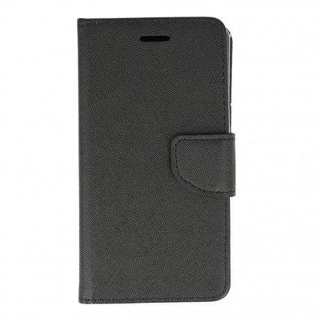 Etui portfelowe Fancy na telefon Huawei P9 Lite czarny