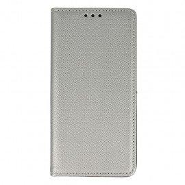 Etui boczne z klapką magnet book Huawei P9 Lite srebrny