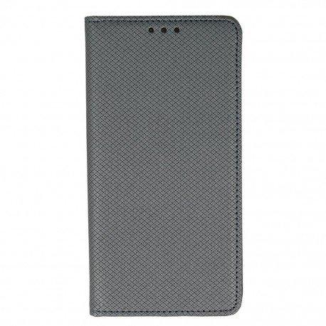 Etui boczne z klapką magnet book Huawei P9 Lite stalowy