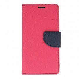Etui portfelowe Fancy na telefon Huawei P9 różowy