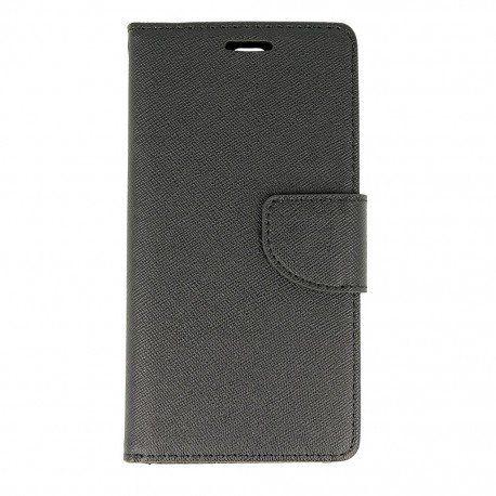 Etui portfelowe Fancy na telefon Huawei P9 czarny