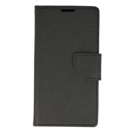 Etui portfelowe Fancy na telefon Sony Xperia E5 czarny