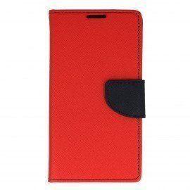 Etui portfelowe Fancy na telefon Sony Xperia E5 czerwony