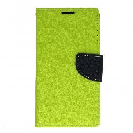 Etui portfelowe Fancy na telefon Sony Xperia E5 limonka