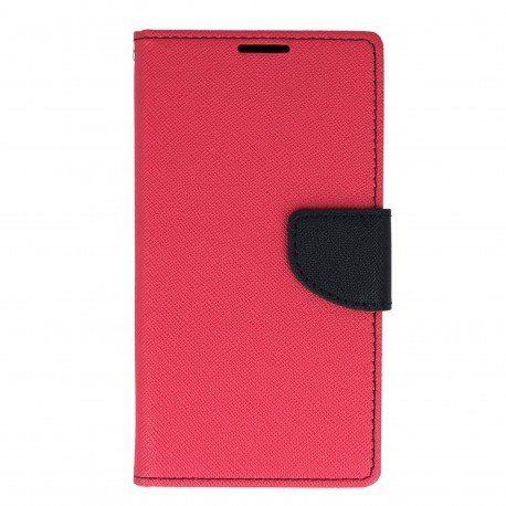 Etui portfelowe Fancy na telefon Sony Xperia E5 różowy