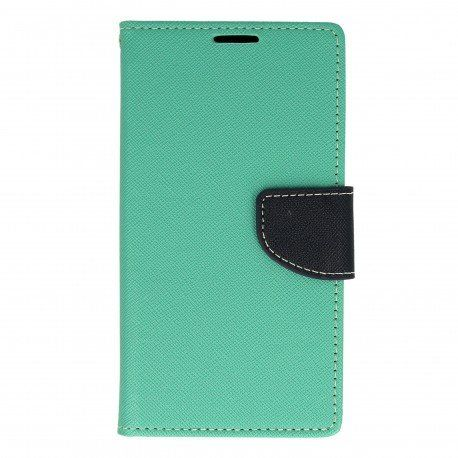 Etui portfelowe Fancy na telefon Sony Xperia E5 miętowy