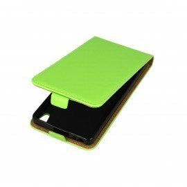 Etui z klapką Flexi do telefonu Sony Xperia E5 zielony