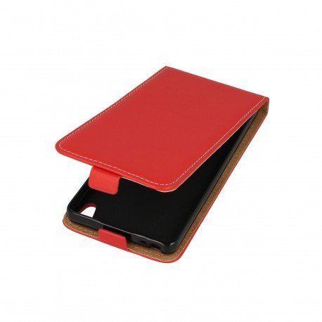 Etui z klapką Flexi do telefonu Sony Xperia E5 czerwony