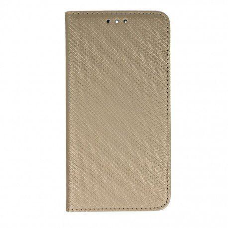 Etui boczne z klapką magnet book Huawei P9 złoty