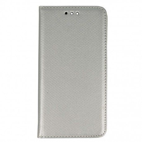 Etui boczne z klapką magnet book Huawei P9 srebrny
