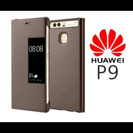Oryginalne etui obudowa SMART COVER do Huawei P9 brązowy