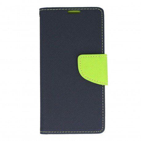 Etui portfelowe Fancy na telefon Sony Xperia XA granatowy