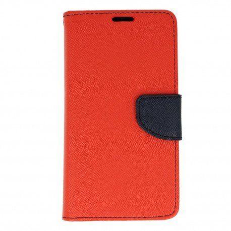 Etui portfelowe Fancy na telefon LG K10 2017 M520n czerwony