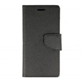 Etui portfelowe Fancy na telefon Sony Xperia X Performance czarny
