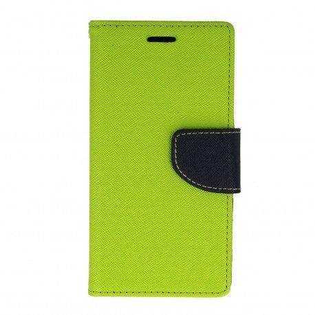 Etui portfelowe Fancy na telefon Sony Xperia X Performance limonka