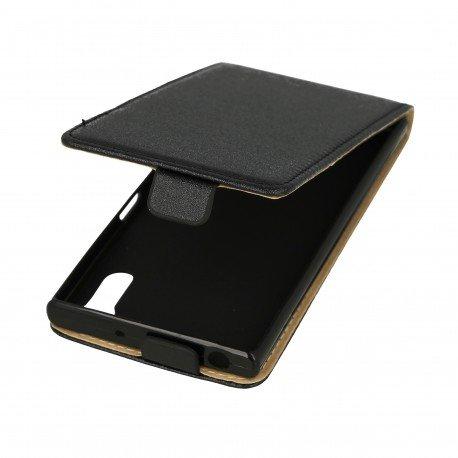 Etui z klapką Flexi do telefonu Sony Xperia XZ czarny