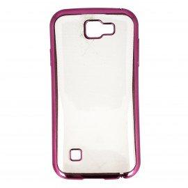 Etui nakładka na telefon Clear Case do LG K3 różowa