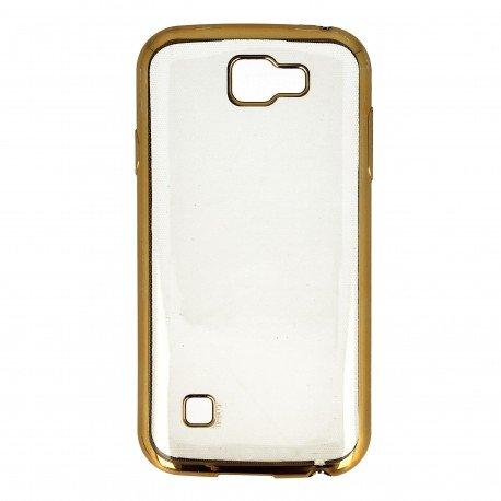 Etui nakładka na telefon Clear Case do LG K3 złoty