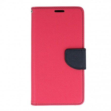 Etui portfelowe Fancy na telefon HTC Desire 825 różowy