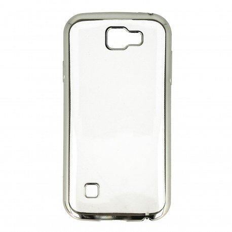 Etui nakładka na telefon Clear Case do LG K3 srebrny