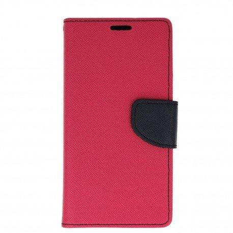 Etui porfelowe Fancy na telefon Huawei P8 Lite 2017 / P9 Lite 2017 różowy
