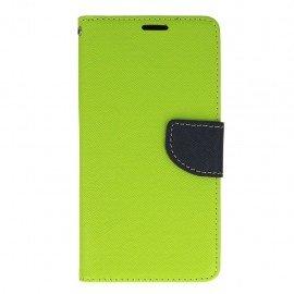Etui portfelowe Fancy na telefon HTC Desire 825 limonka
