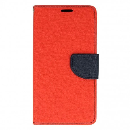 Etui portfelowe Fancy na telefon HTC Desire 825 czerwony
