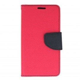 Etui portfelowe Fancy na telefon LG K3 różowy
