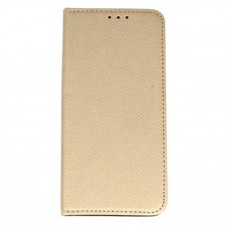 Etui boczne z klapką magnet book Huawei P10 złoty