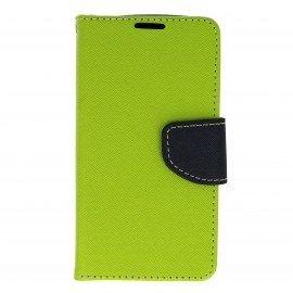 Etui portfelowe Fancy na telefon LG K3 limonka
