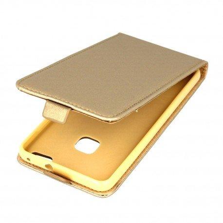 Etui z klapką Flexi do telefonu Huawei P10 Lite złoty