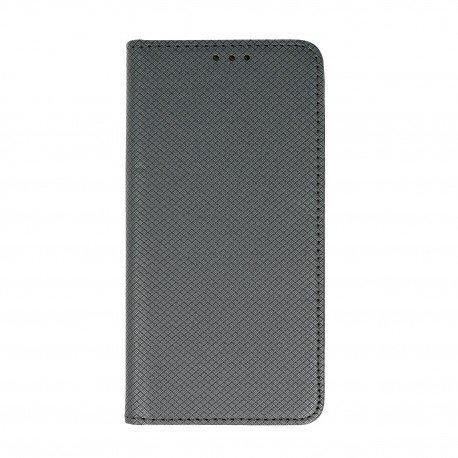 Etui boczne z klapką magnet book Huawei P10 Lite stalowy